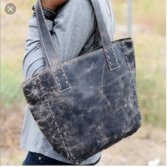 9368d2577d4 Bed Stu Bags | Smoke Gray Luxe Stevie Leather Tote | Poshmark